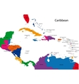 Caribbean map vector image