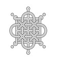 celtic knot - single chain - rod top loop sides vector image vector image
