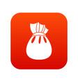 christmas bag of santa claus icon digital red vector image vector image