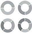 Circle chart set gray vector image vector image