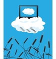 Cloudy technologies vector image