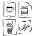 coffee in different containers vector image vector image