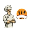 color happy chef vector image vector image