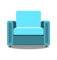 colorful armchair icon for your design flat vector image vector image