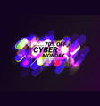 cyber monday shiny sale banner vector image vector image