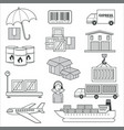 delivery and logistics parcels and cargo vector image