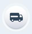 delivery icon van transportation symbol vector image vector image