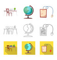 design of education and learning logo set vector image vector image