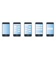 desktop smartphone vector image