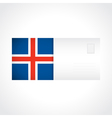 Envelope with Icelandic flag card vector image vector image