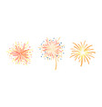 fireworks collection christmas card festive vector image