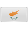 Flags Cyprus in the form of a magnet on vector image vector image