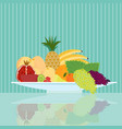 flat natural food concept vector image vector image