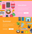 flat travel elements banners vector image
