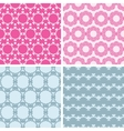 Four abstract chain motives seamless patterns set