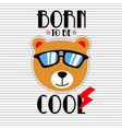 funny and cool animal cartoon vector image