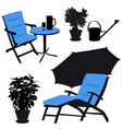 garden furniture silhouettes vector image vector image
