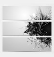 geometric abstract backgrounds with black color vector image