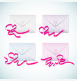 gift envelopes set vector image
