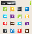 goods for pets bookmark icons vector image vector image