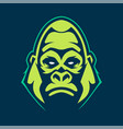 gorilla mascot icon vector image