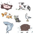 hand drawn animals vector image vector image