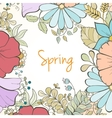 hand drawn flower invitation card vector image