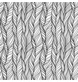 hand drawn seamless pattern with braids vector image vector image