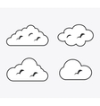 Isolated design of clouds icon set vector image vector image