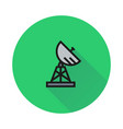 military radar icon on white background vector image
