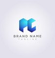 modern pc logo icon design with blue vector image