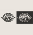 monochrome brewery badge vector image vector image