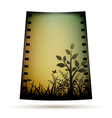 Negative film with landscare vector image vector image