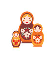 nesting doll flat colorful vector image