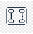networking concept linear icon isolated on vector image