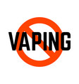 no vaping warning sign isolated on white vector image