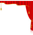 red curtain from the right side vector image vector image