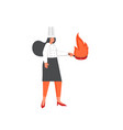 restaurant cook flat style design vector image vector image