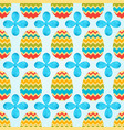 seamless pattern of zigzag easeter eggs with blue vector image