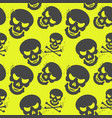 seamless pattern with skulls on neon background vector image vector image