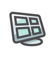 security monitor control station icon vector image