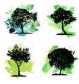 set deciduous trees vector image vector image