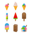 set ice cream vector image vector image