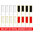 set of vertical royal banner flags vector image vector image