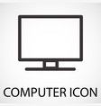 simple computer icon vector image