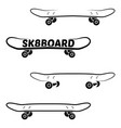 skate board logo template vector image vector image