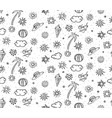 sketch monochrome summer rest seamless pattern vector image vector image