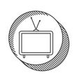 television device icon vector image vector image