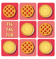Tic-Tac-Toe of cookie and strawberry pie vector image