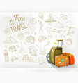 time to travel infographics vector image vector image